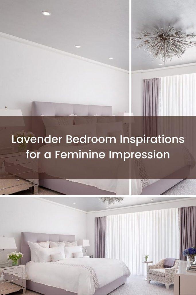 Minimalist-elegant lavender bedroom