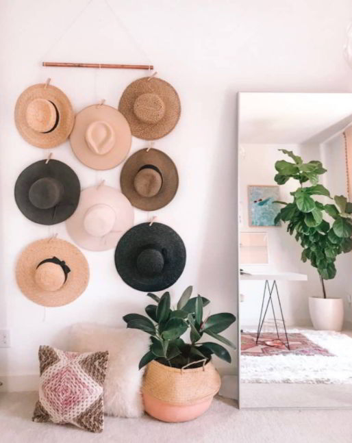Clip Hat Hangers for Minimalist Home