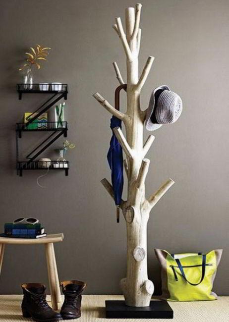 Natural Wooden Hat Holders for Living Room